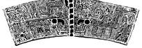 古典牛头青铜器花纹