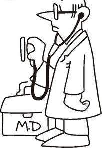 戴听诊器的医生