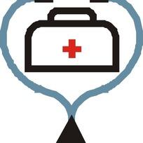 听诊器和急救箱