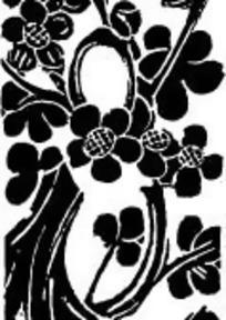 黑白梅花图