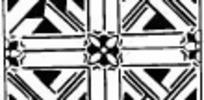 中国古典图案-几何形和四瓣花朵构成方形图案