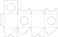 包装盒刀模稿矢量图