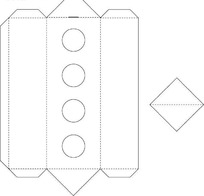包装盒刀模形状矢量图