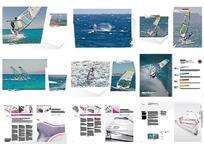 简约帆船比赛宣传画册