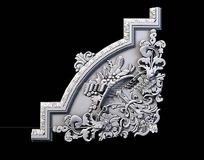 欧式雕花石膏角线3D模型