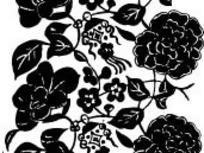 中国古典图案-牡丹花朵和叶子构成的图案