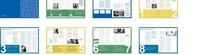 简洁蓝绿黄色调画册设计