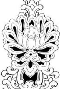 中国传统图案花朵装饰