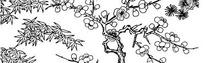 竹子梅花松树边框素材