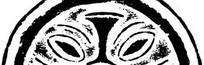 中国古典图案-几何形构成的斑驳的半圆形图案