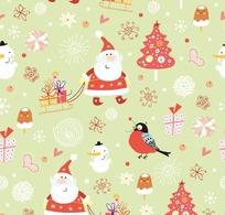 精致卡通圣诞节填充图案
