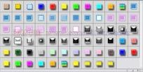 61个玻璃按钮投影图层样式下载