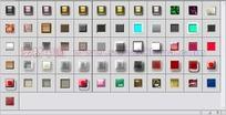 61个发光玻璃按钮纹理图层样式下载