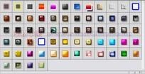 64个发光玻璃纹理按钮图层样式下载