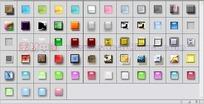 64个浮雕投影透明按钮图层样式下载