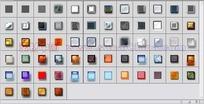 64个纹理发光玻璃按钮图层样式下载