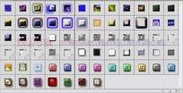 67个玻璃纹理描边投影图层样式下载