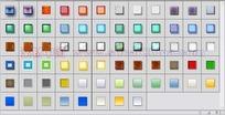 68个发光光泽玻璃投影图层样式下载