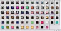 70个国旗按钮玻璃纹理图层样式下载
