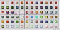 70个漂亮格纹按钮玻璃图层样式下载
