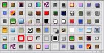 72个发光纹理按钮渐变图层样式下载