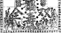 单色福寿双全传统图案AI矢量文件