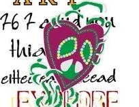 矢量手绘英文字母创意花朵插画