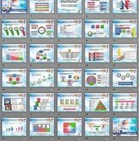 蓝色医学研究图表PPT模板