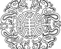 单色传统吉祥图案AI矢量文件