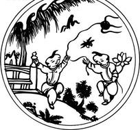 中国古典图案—放风筝