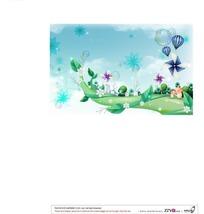 树藤上的风车气泡和热气球