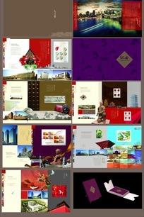 中国风图案的公司纪念册