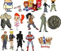 多款经典电视卡通人物形象