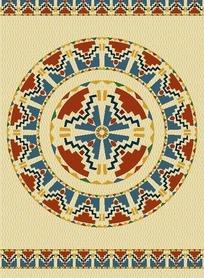 几何图形组成的传统民族图案