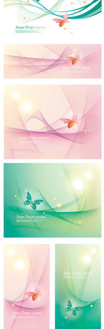 梦幻背景与蝴蝶