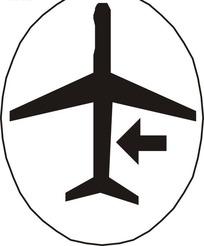 飞机向左飞行标志
