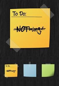notes时尚卡通标签纸UI素材背景素材psd便签纸