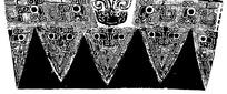 中国古典图案-卷曲纹构成的斑驳的三角形图案
