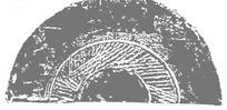中国古典图案-斑驳的线条构成的灰色半圆形图案