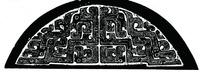 中国古典图案-交缠的条纹构成的半圆形图案