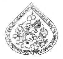 中国古典图案-狮子和铜钱构成的图案