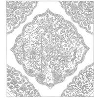 波浪菱框内梅竹花卉纹和四角花纹构成的图案
