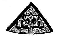 中国古典图案-卷曲纹构成的三角形图案