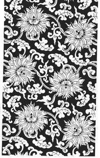 手绘重复的花朵和叶子图案