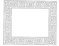 回形空心装饰矩形边框AI矢量文件