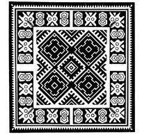 中国古典图案-菱形和几何形构成的方形图案