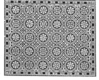 中国古典图案-圆形和几何形构成的方形图案