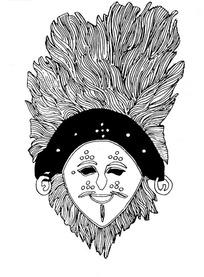 藏传佛教面具图案