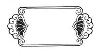 失量对称欧式边框