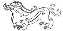 矢量古代中国动物图案